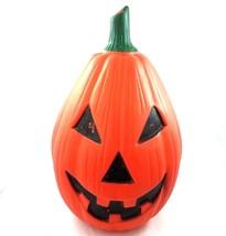 Vintage Halloween Pumpkin Jack O Lantern Blow Mold Light 23 Inch Yard Decor - $39.50