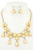 Ladies fashion faceted link bib necklace set  Emerald - $38.98