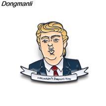 P3659 Dongmanli Trump Enamel Pin Brooches Cartoon Creative Metal Brooch ... - $7.99
