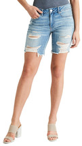 American Eagle Womens Destroy Blue wash Denim Bermuda Jean Shorts Sz 20 ... - $49.45