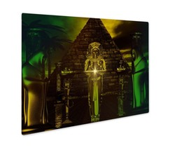 Metal Panel Print, Egyptian Temple Haunting Digital Art Fantasy Scene Of... - $112.44+