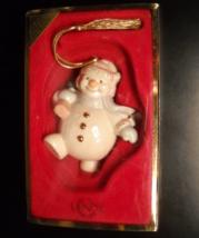 Lenox Christmas Ornament Snowman Totting Tree in Original Presentation Box - $10.99