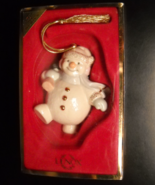 Lenox Christmas Ornament Snowman Totting Tree in Original Presentation Box - $10.99