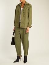 Vintage Spanish army women's olive khaki jacket coat surplus military la... - $15.00+