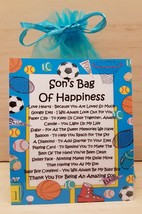 Son's Survival Kit / Bag of Happiness -Unique Fun Novelty Gift & Card All In One - $6.74
