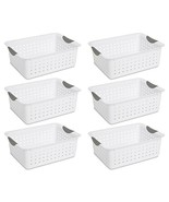Sterilite 16248006 Medium Ultra Basket, White Basket w/ Titanium Inserts... - $19.49