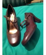 ETIENNE AIGNER NADINE 6M WOMEN'S BROWN LEATHER MARY JANE PUMPS SHOES EUC... - $33.65