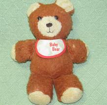 1984 Fisher Price BABY BEAR Plush Teddy Vintage Brown Lovey Stuffed #970... - $12.44