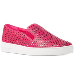 Michael Michael Kors Keaton Star-Perforated Slip-On Sneakers Ultra Pink Mult Sz - $89.99