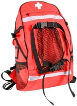 Red First Aid Red Cross EMT EMS Trauma Backpack Medical Equipment Bag - $66.99