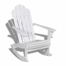 Indoor Outdoor Garden Patio Adirondack Rocking Chair Hardwood Firwood Se... - $115.99