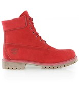 """Timberland WOMEN'S Premium """"ICON 6"""" Boots NEW AUTHENTIC Ruby Red A1JGJF41 - $119.99"""