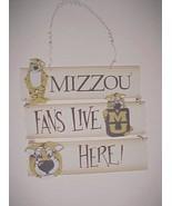 "Missouri Tigers NCAA SEC Mizzou Fans Live Here Wooden Wall Hanger 10"" x 12"" - $24.74"