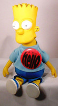 1990 BART SIMPSON with BUTTON  Plush Stuffed TOY Groening Limited Editio... - $12.46