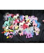 Vintage G1 80s My Little Pony Lot 22 Ponies Adult Baby Cat Accessories  - $89.09