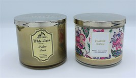Bath & Body Works Praline Pecan Large 3 Wick Jar Candle 14.5 oz x2 - $44.99