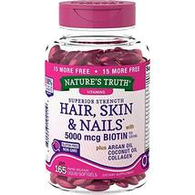 Nature's Truth Superior Strength Hair/Skin/Nails with Argan/Coconut Oil/... - $17.12