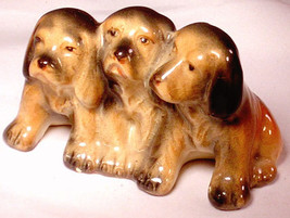 BESWICK 3 English Springer Spaniel Puppies DOGS England Animal Art Potte... - $9.64