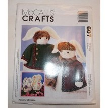 Vintage McCall's Crafts Pattern #607 Boy and Girl Bunnies with Jackets a... - $11.50