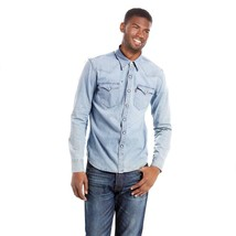 Levi's Men's Long Sleeve Button Up Barstow Western Denim Dress Shirt 3LYLW9962