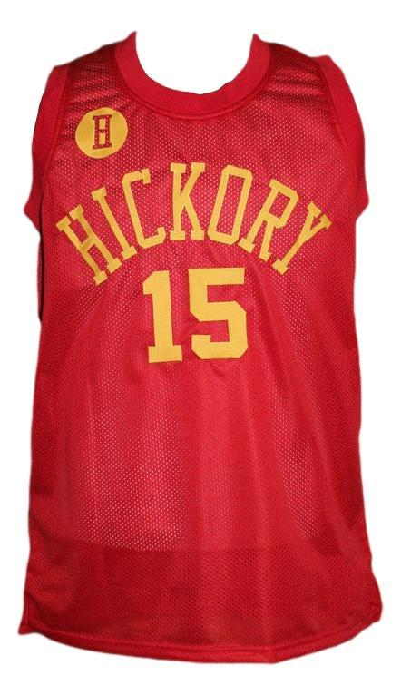 Jimmy chitwood hickory hoosiers movie basketball jersey red   1