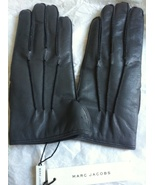 MARC JACOBS Coll Runway Cashmere-Lined LEATHER GLOVES GREY Made in Italy... - $250.00