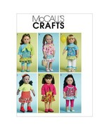 """McCall's Patterns M6370 Doll Clothes for 18"""" Dolls, One Size Only  - $19.00"""