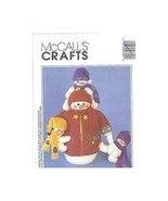 McCall's Crafts Vintage Pattern #806 Dad's Day off Snowman and Snowkids  - $11.50