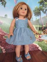 "homemade 18"" doll american girl/madame alexander  sundress doll clothes - $16.04"