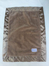 "Saranoni Baby Security Blanket Brown Lovey Satin Trim 15"" x 20"" Blankie - $24.74"