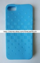 PRESS PLAY CASE for IPHONE 5 OPAQUE LIGHT BLUE Smooth Texture TPU METRO DESIGN