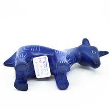 Vaneal Group Hand Carved Kisii Soapstone Dark Blue Unicorn Figurine Made Kenya image 5