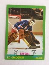 1973-74 Topps #140 Ed Giacomin Hockey Card EX+ Condition New York Rangers KV1 - $4.99