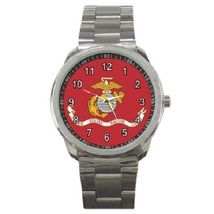 US Marine Corps Flag Sport Metal Watch Gift model 22566393 - $14.99