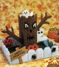 Plastic Canvas Halloween Tree Dish Xmas Silver Bells Box Basket Crate Pa... - $7.99