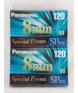 Panasonic NV-P6120SP 8mm SP Blank Camcorder VideoTape 2 Pk Standard Prem... - $10.88