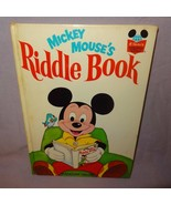 Mickey Mouses Riddle Book Hardcover Book 1972 Children Disney - $12.56