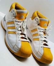 Adidas Pro Model G07694 Gold Stripe Basketball Shoes Sneakers Mens 18 Su... - $48.37
