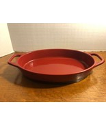 Bobby Flay 2 Quart Stoneware Dark Red and Black Oval Casserole Baking Dish  - $21.84