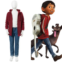 2017 Disney Film Coco Miguel Rivera Cosplay Costume Red Jacket Kids Uniform Suit - $89.00