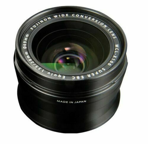 Fujifilm WCL-X100 Wide-Angle Conversion Lens for X100 Camera / Black