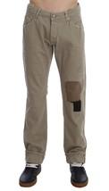 Beige Cotton Patchwork Jeans - $75.00