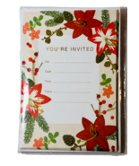 Hallmark Single Panel Party Invitations Cards With Envelopes Floral Desi... - $10.89