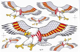 D509 Eagle Wing Bird Sticker Decal Racing Tuning Size 27x18 cm / 10x7 inch - $3.49