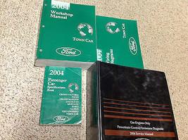 2004 Lincoln Town Car Service Shop Repair Manual Set W EWD + PCED + SPEC... - $128.65