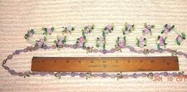 VTG 1950's LUCITE LAVENDER FLORAL FLOWER GARDEN FLAPPER LAYERING NECKLAC... - $137.99