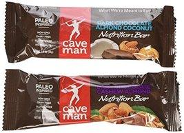 Caveman Nutrition Bars 10 Dark Chocolate Cashew Almond Bars and 10 Dark ... - $31.67