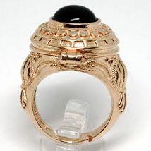 Silberring 925 Pink, Türblech Tür Bremsbeläge, Onyx Cabochon, Einstellbar image 4