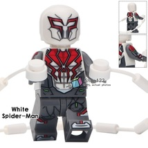 Single Sale Marvel Spider-Man White Suit Into The Spider-Verse Minifigures Block - $3.95