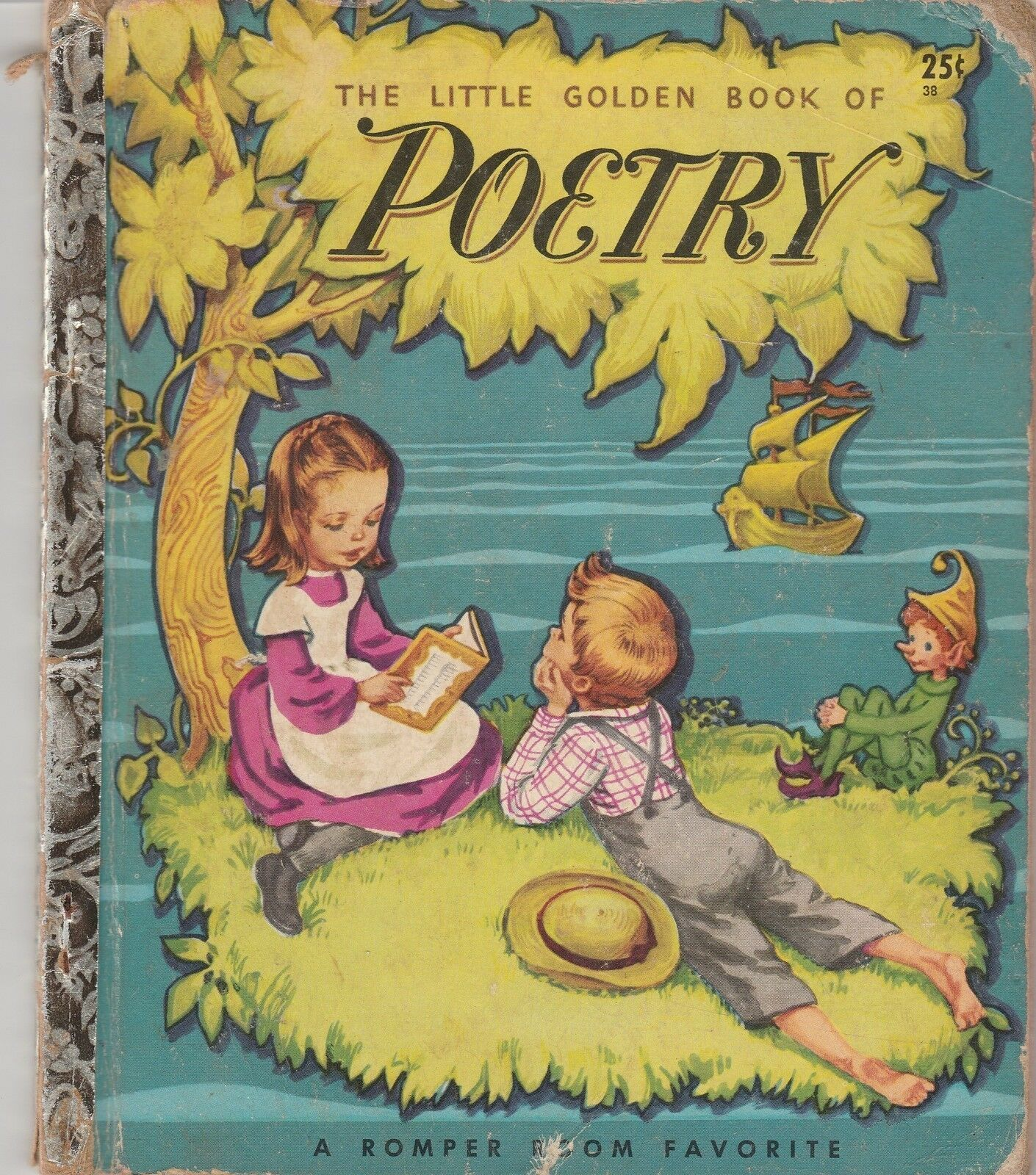 The Little Golden Book of Poetry by Corinne Malvern 1947 F Edition Book 38